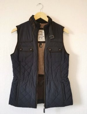 Mango Quilted Gilet dark blue polyester