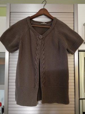 Outfit Smanicato lavorato a maglia verde oliva Cotone