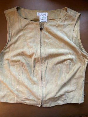 laurel jeans Skórzana kamizelka jasnobeżowy