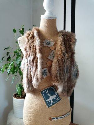 Mauritius Fur vest multicolored