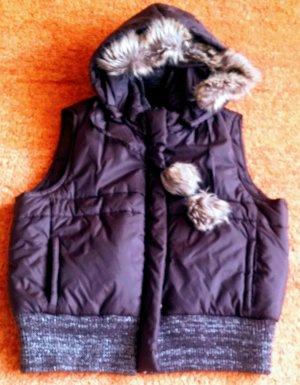Blind Date Capuchon vest donkerbruin-bruin Polyamide
