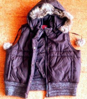 Blind Date Capuchon vest bruin Polyamide