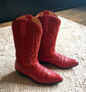 Man Made Sole Western Laarzen rood Leer