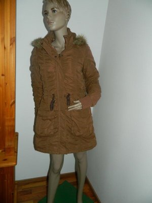 Colours of the World Long Jacket brown-light brown mixture fibre