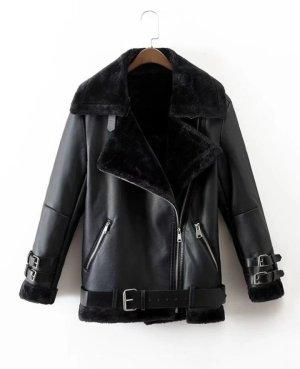 Damen winter jacke schwarz