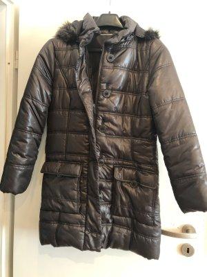Damen Winter Mantel dunkelbraun, Gina Benotti, Gr. 40