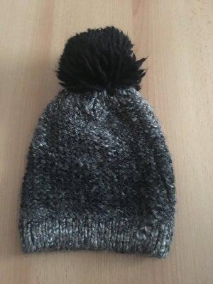 keine Marke Cappello a maglia nero-antracite