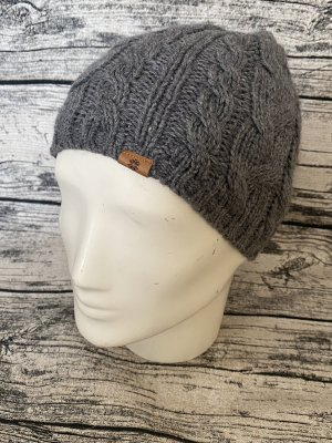 Tchibo / TCM Sombrero de punto gris antracita-gris