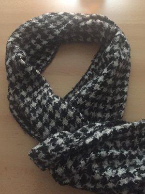 keine Marke Długi sweter bez rękawów czarny-biały
