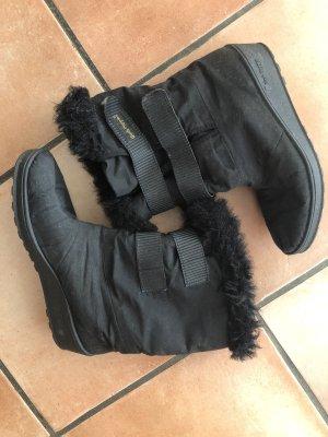 Damen Winter Stiefel schwarz, flauschig, mit Klettverschluss, Gr. 39, Hush Puppies