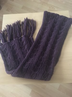 keine Marke Gebreide sjaal bruin