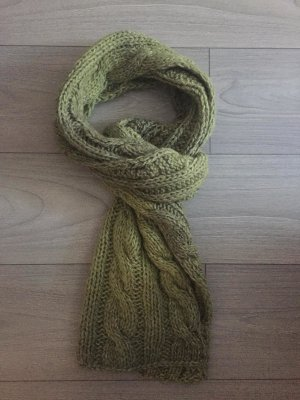 keine Knitted Scarf lime-green