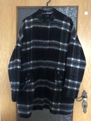 H&M Abrigo de invierno negro-blanco