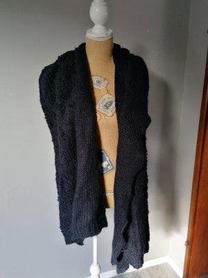Promod Écharpe en laine bleu foncé