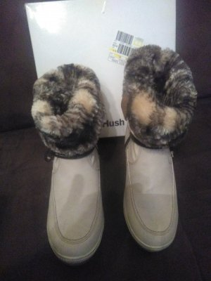 Hush Puppies Botas de nieve crema Nailon