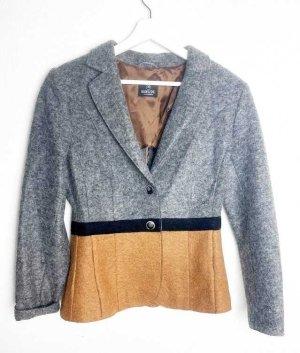 Madeleine Blazer in lana grigio-marrone