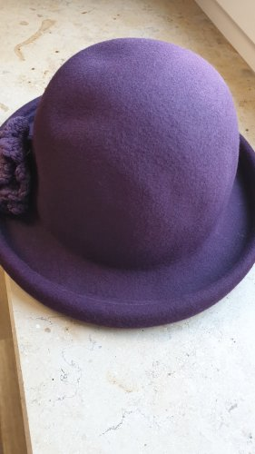 Killah Cappello di lana viola scuro