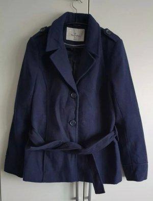 Blue Motion Wełniany sweter ciemnoniebieski