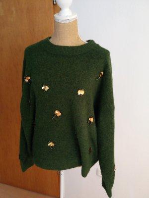 Damen Wollpullover *goldene Fliegen*