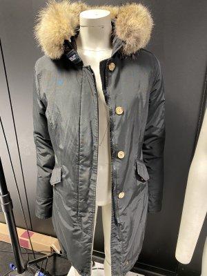Woolrich Kurtka zimowa czarny-beżowy