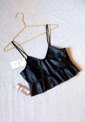 Zara Spaghetti Strap Top black