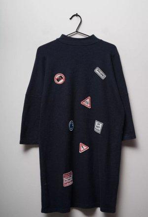 Damen Zara Winter Kleid Strickkleid mit Applikationen