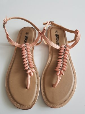 Damen Zehentrenner Sandale Aprikot Größe 38 von My Hailys