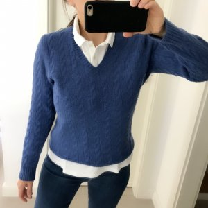 Cable Sweater cornflower blue