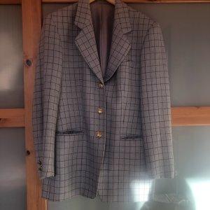 Blazer en tweed bleu azur-brun foncé