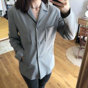 Marc Aurel Long Blazer silver-colored-grey