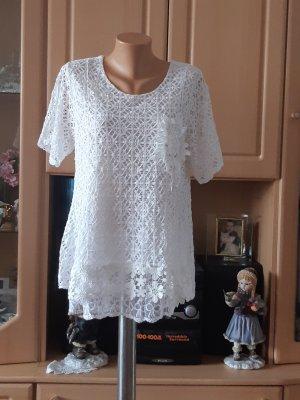 Made in Italy Blusa de manga corta blanco