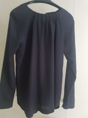 Silk Blouse dark blue nylon