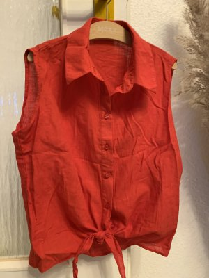 ambar Mouwloze blouse rood