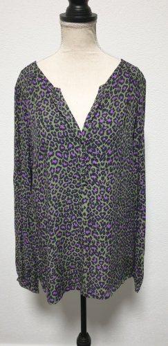 Bonita Blusa a tunica blu-viola-grigio-verde Viscosa