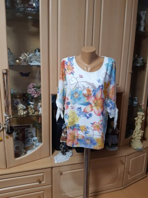 Made in Italy Blusa taglie forti bianco