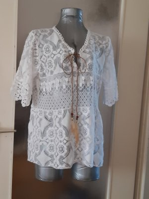 Made in Italy Oversized Blouse white