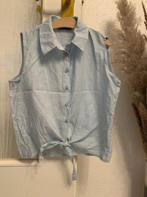ambar Mouwloze blouse lichtblauw