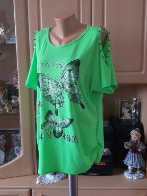 Made in Italy Camisa holgada verde neón