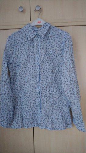 casual Long Sleeve Blouse light blue