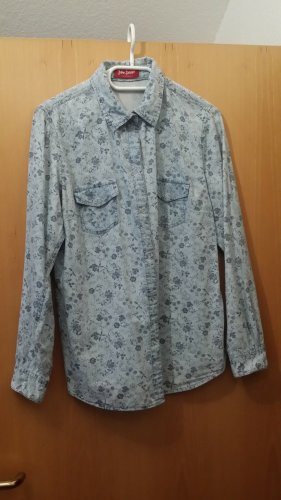John Baner Blouse en jean bleu azur coton