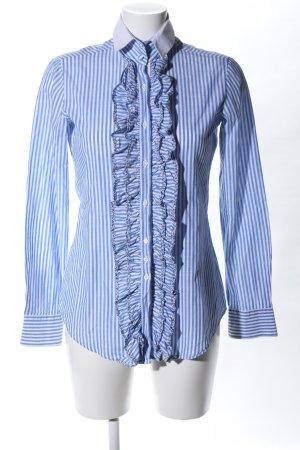 Aglini Camisa de manga larga azul-blanco