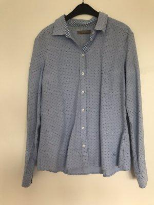 Christian Berg Shirt Blouse white-azure cotton