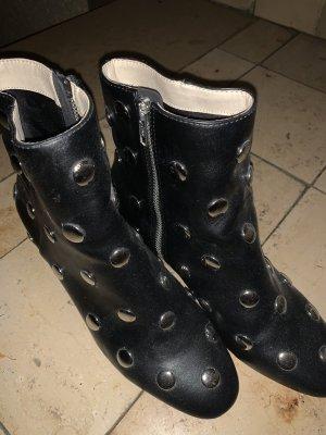 H&M Low boot noir-argenté
