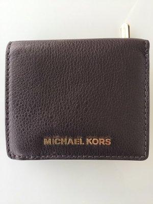 Michael Kors Portmonetka ciemnobrązowy Skóra