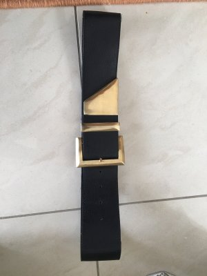 0039 Italy Leather Belt black