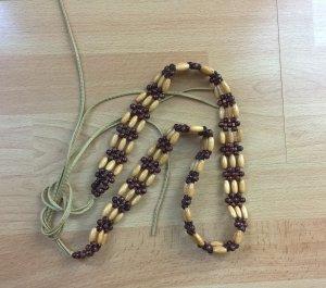 Cintura con catena multicolore Legno