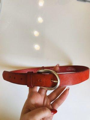 Vanzetti Cintura di pelle arancione-ruggine