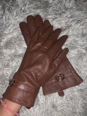 Leather Gloves dark brown