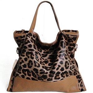 Damenhandtasche Schultertasche Tasche Umhängetasche Leder Shopper Braun XXL