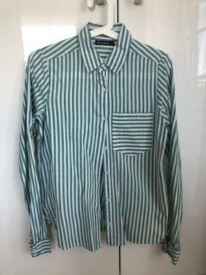NA-KD Camicia a maniche lunghe bianco-verde bosco